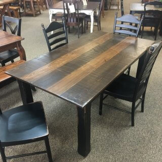"40"" x 7' Cabin Leg Table @ Baton Rouge in Stock BR-364"