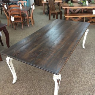 "40"" x 7' Cabriole Leg Table @ Baton Rouge in Stock BR-365"