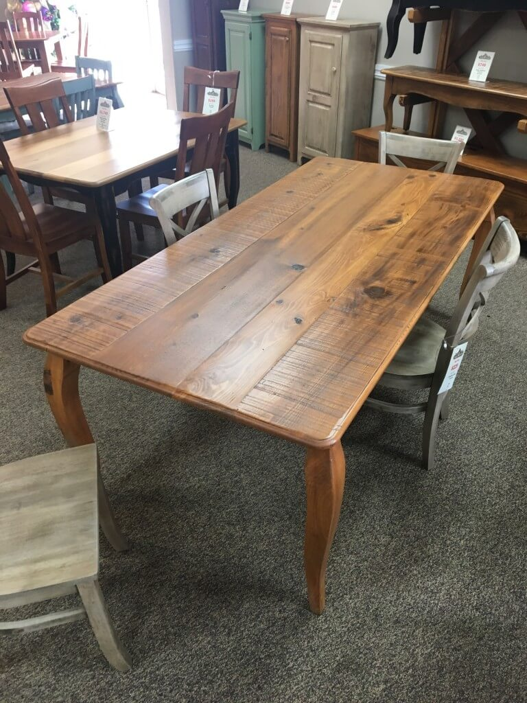 40 X 7 French Leg Table Baton Rouge Br 366 Sold All Wood Furniture