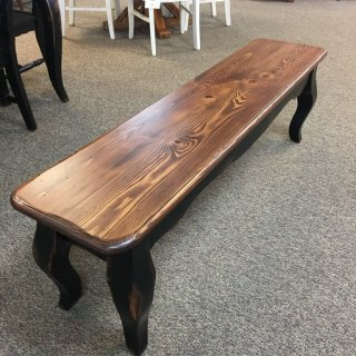 "5' x 14"" French Leg Bench @ Baton Rouge in Stock BR-368"
