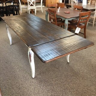 "40"" x 6' French Leg Table w/ 2 18"" Company Boards @ Baton Rouge BR-378 SOLD"