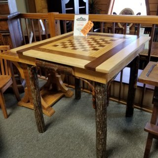 Amish Checker Table @UL Store UL-Red72 Red Tag