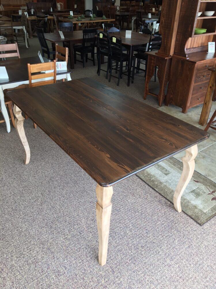 42u201d X 6u0027 Pub Height Sabre Leg Table @ Baton Rouge In Stock BR 383   ALL Wood  Furniture