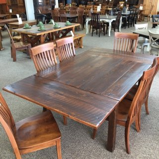 "4' x 4' Block Leg Table w/ 2 18"" Company Boards @ Baton Rouge in Stock BR-385"