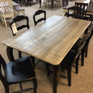 "40"" x 6' Cabriole Leg Table @ Baton Rouge in Stock BR-390"
