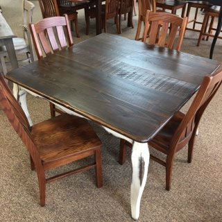 "48"" x 48"" French Leg Table @ Baton Rouge in Stock BR-391"