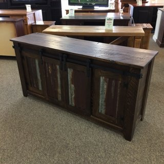 Barn Door TV Stand @ Baton Rouge BR-392 SOLD