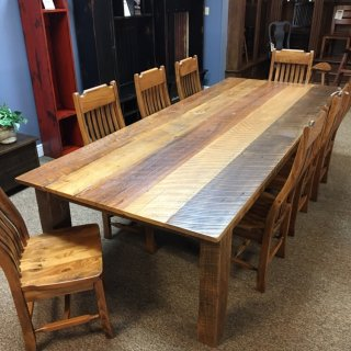 "48"" x 10' Cypress & Sweet Gum Barnwood Table @ Baton Rouge in Stock BR-393"