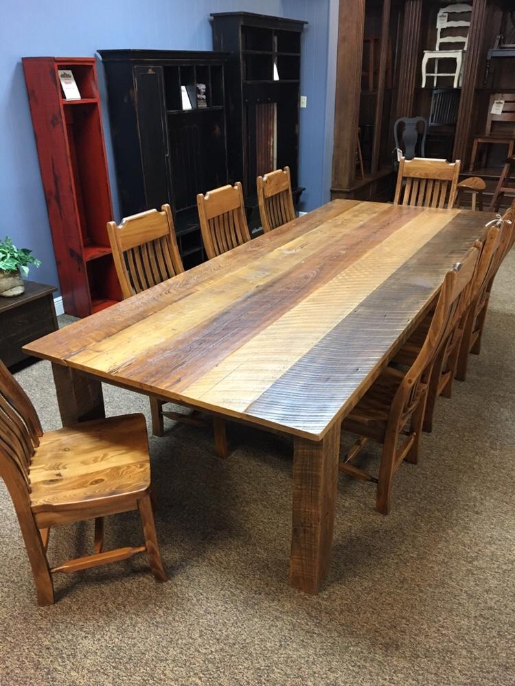 48u201d X 10u0027 Cypress U0026 Sweet Gum Barnwood Table @ Baton Rouge BR 393 SOLD    ALL Wood Furniture
