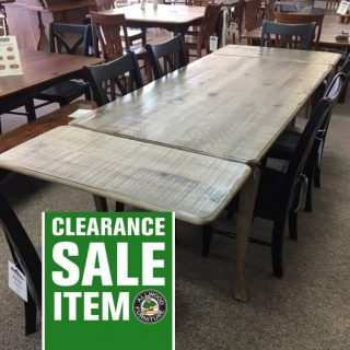 "40"" x 6' Cabriole Leg Table w/ 2 18"" Company Boards @ Baton Rouge in Stock BR-401"