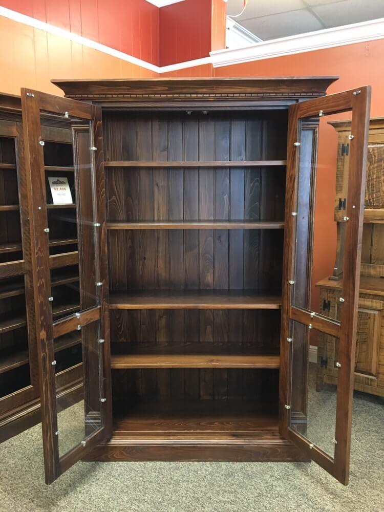 Rustic Shaker Display Cabinet Baton Rouge In Stock Br 398