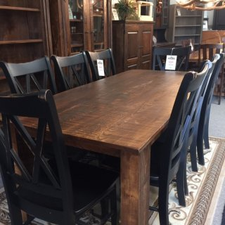 "40"" x 7' Beam Leg Table w/pecky @ Pinhook Store PH-225 In Stock"