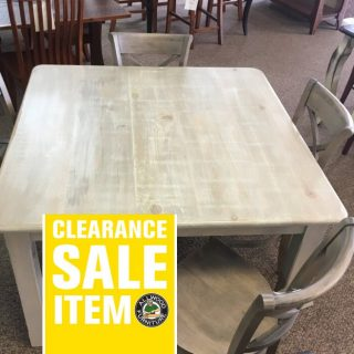 "48"" x 48"" Cabin Leg Table @ Baton Rouge in Stock BR-409"