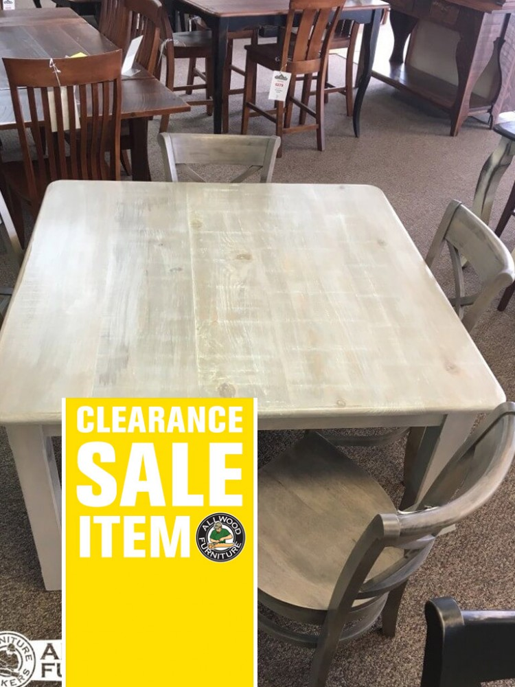 48 X 48 Cabin Leg Table Baton Rouge In Stock Br 409 Br