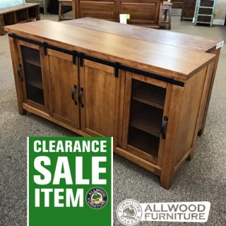 Barn Door TV Stand @ Baton Rouge in Stock BR-413