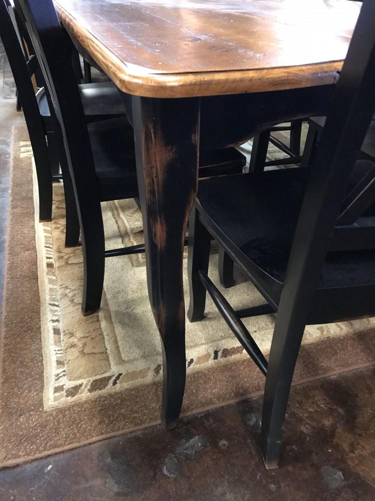 6 Creole Table W Barn Wood Top Ul Store In Stock Ul 237