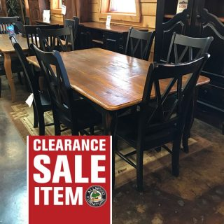 6′ Creole Table w/ Barn Wood Top @UL Store In Stock UL-237