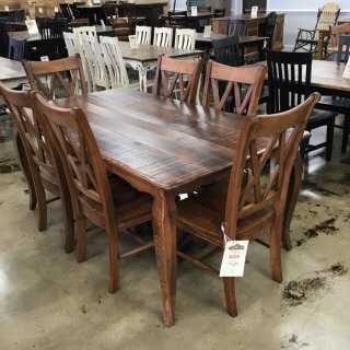 """40""""x6' French Leg Table @ Pinhook in Stock PH-250"""