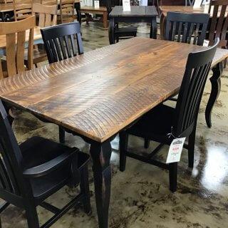 "40"" x 70"" Sabre Leg Table w/Barnwood Top @ Pinhook In Stock PH-252"