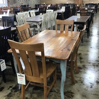 "36"" X 5' Creole Leg Table New Cypress @ Pinhook In Stock PH-253 Sold"
