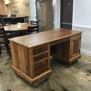 Heritage Executive Desk, Barnwood @ Pinhook In Stock PH-255