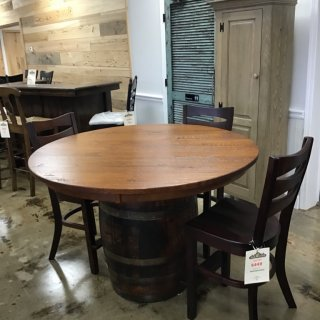 "54"" Round Rustic Barrel Table @ Pinhook In Stock PH-256"