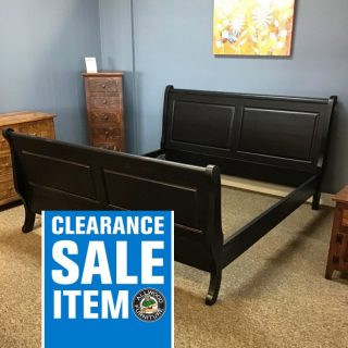 Rustic Sleigh Bed in King @ Baton Rouge in Stock BR-423