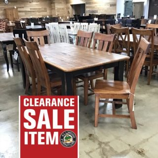 "40"" X 6' Cabin Leg Table @ Pinhook PH-303 SOLD"