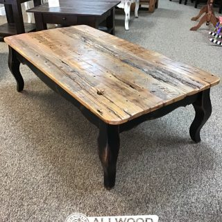 French Leg Barnwood Top Coffee Table @ Baton Rouge in Stock BR-422