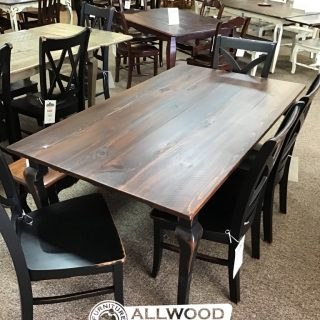 "40"" x 6' Creole Leg Table @ Baton Rouge in Stock BR-424"