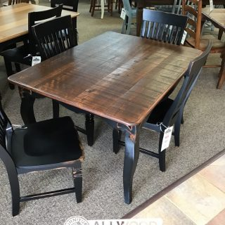 "40"" x 4' Fleur de Lis Leg Table @ Baton Rouge in Stock BR-417"