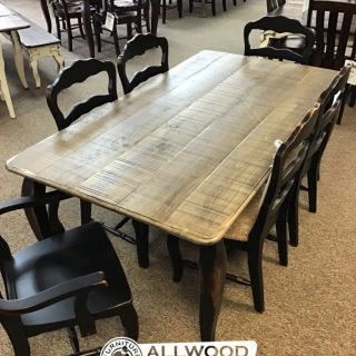 "40"" x 6' French Leg Table @ Baton Rouge in Stock BR-418"