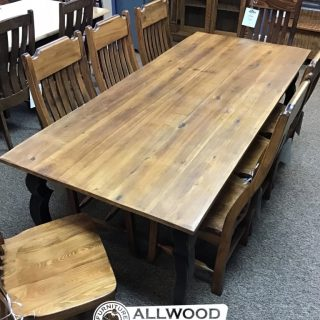 "36"" x 7' Sabre Leg Table @ Baton Rouge in Stock BR-419"