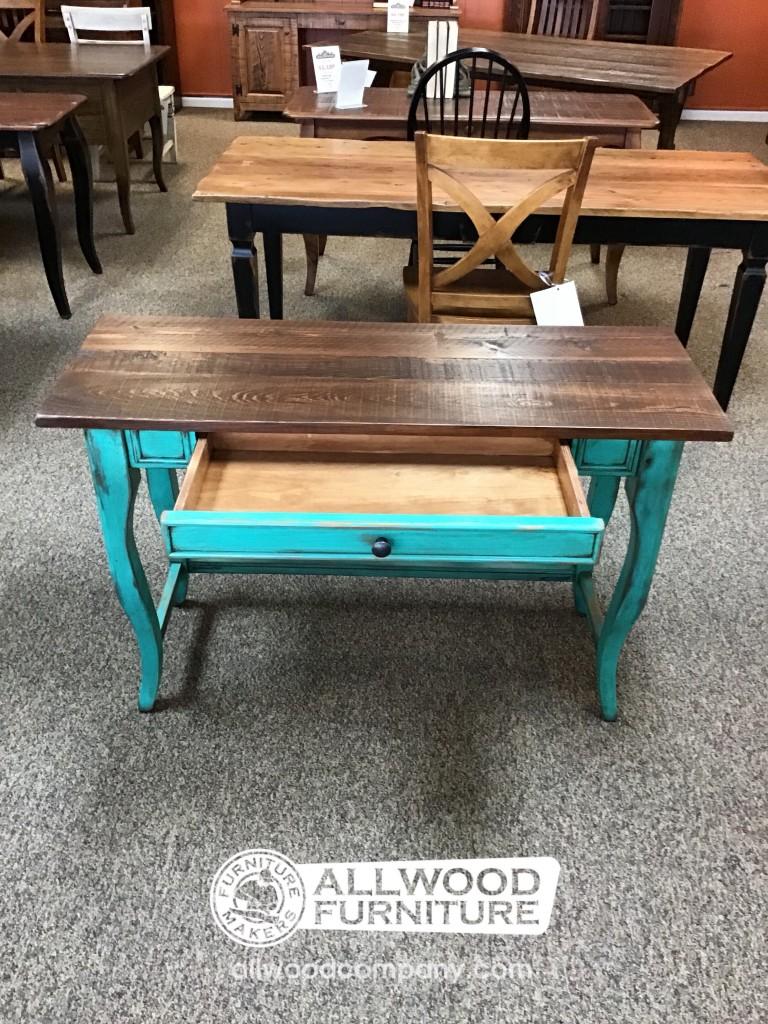 Creole Leg Desk W 1 Drawer Baton Rouge In Stock Br 420