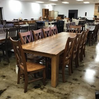 "40"" X 9' Block Leg Table @ Pinhook PH-260 SOLD"