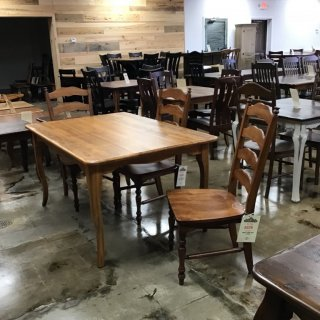 "40"" X 40"" Creole Leg Table @ Pinhook In Stock PH-273"