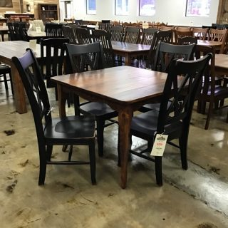 "40"" X 40"" Creole Leg Table @ Pinhook In Stock PH-278"