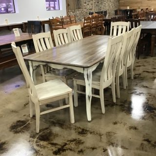 "40"" X 7' Creole Leg Table @ Pinhook Sold PH-283"