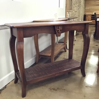 "18"" X 48"" Fleur De Lis Sofa Table @ Pinhook In Stock PH-288"