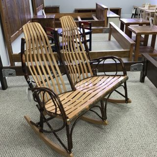 Double Hickory Bent Rocker @ Pinhook In Stock PH-302