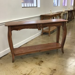 "16"" X 60"" Fleur De Lis Sofa Table @ Pinhook In Stock PH-304"