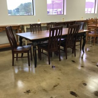 "40"" X 7' Sabre Leg Table @ Pinhook In Stock PH-306"