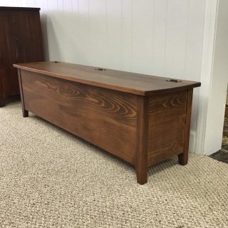 Rustic Shaker Storage Bench @ Pinhook In Stock PH-312