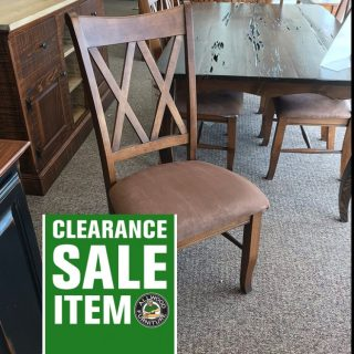 Double X Back Upholstered Chair @ Baton Rouge In Stock BR-4010