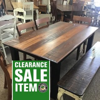 "40"" x 6' x 30"" Cabin Leg Table @ Baton Rouge in Stock BR-428"