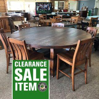 6′ Round Sabre Leg Pedestal Table @ Baton Rouge In Stock BR-9912