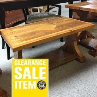 """22"""" X 26"""" X 18"""" Cajun Timber Coffee Table @ Pinhook In Stock PH-127"""