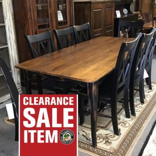 "40"" X 7' Creole Leg Table @ Pinhook In Stock PH-327"