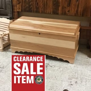 "20"" X 46"" X 22"" Amish Maple Chest @ Pinhook In Stock PH-334"