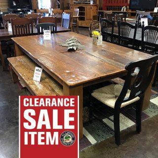 54″ x 8′ Barnwood 6×6 Beam Leg Table @ UL UL-502 SOLD